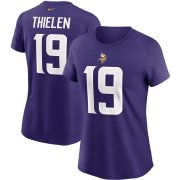 Wholesale Cheap Minnesota Vikings #19 Adam Thielen Nike Women's Team Player Name & Number T-Shirt Purple