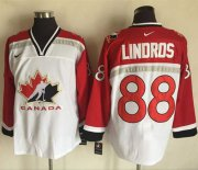 Wholesale Cheap Team CA. #88 Eric Lindros White/Red Nike Throwback Stitched NHL Jersey