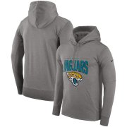 Wholesale Cheap Jacksonville Jaguars Nike Sideline Property of Performance Pullover Hoodie Gray