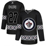 Wholesale Cheap Adidas Jets #27 Nikolaj Ehlers Black Authentic Team Logo Fashion Stitched NHL Jersey