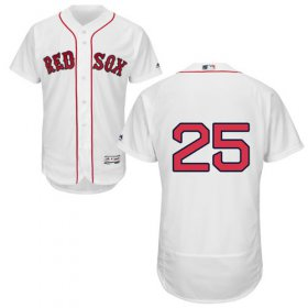 Wholesale Cheap Red Sox #25 Steve Pearce White Flexbase Authentic Collection Stitched MLB Jersey