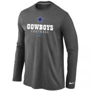 Wholesale Nike Dallas Cowboys Critical Victory Long Sleeve NFL T-Shirt Dark Grey