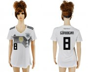 Wholesale Cheap Women's Germany #8 Gundogan White Home Soccer Country Jersey