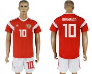 Wholesale Cheap Russia #10 Arshavin Home Soccer Country Jersey