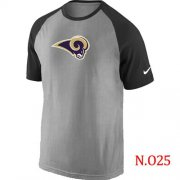 Wholesale Cheap Nike Los Angeles Rams Ash Tri Big Play Raglan T-Shirt NFL Grey/Black