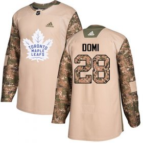 Wholesale Cheap Adidas Maple Leafs #28 Tie Domi Camo Authentic 2017 Veterans Day Stitched NHL Jersey
