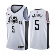 Wholesale Cheap Nike Clippers #5 Montrezl Harrell 2019-20 White Los Angeles City Edition NBA Jersey