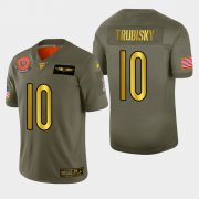 Wholesale Cheap Chicago Bears #10 Mitchell Trubisky Men's Nike Olive Gold 2019 Salute to Service Limited NFL 100 Jersey