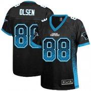 Wholesale Cheap Nike Panthers #88 Greg Olsen Black Team Color Women's Stitched NFL Elite Drift Fashion Jersey