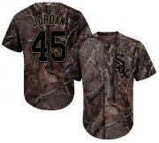 Wholesale Cheap White Sox #45 Michael Jordan Camo Realtree Collection Cool Base Stitched Youth MLB Jersey