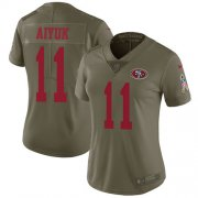 Wholesale Cheap Nike 49ers #11 Brandon Aiyuk Olive Women's Stitched NFL Limited 2017 Salute To Service Jersey