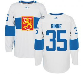 Wholesale Cheap Team Finland #35 Pekka Rinne White 2016 World Cup Stitched NHL Jersey