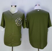 Wholesale Cheap Cubs Blank Green Camo New Cool Base Stitched MLB Jersey