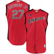 Wholesale Cheap Blue Jays #27 Vladimir Guerrero Jr. Red 2019 All-Star American League Stitched MLB Jersey