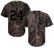 Wholesale Cheap Giants #24 Willie Mays Camo Realtree Collection Cool Base Stitched MLB Jersey
