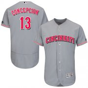 Wholesale Cheap Reds #13 Dave Concepcion Grey Flexbase Authentic Collection Stitched MLB Jersey