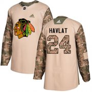 Wholesale Cheap Adidas Blackhawks #24 Martin Havlat Camo Authentic 2017 Veterans Day Stitched NHL Jersey