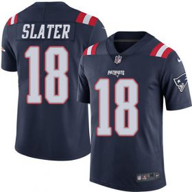 Wholesale Cheap Nike Patriots #18 Matt Slater Navy Blue Men\'s Stitched NFL Limited Rush Jersey