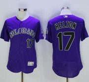Wholesale Cheap Rockies #17 Todd Helton Purple Flexbase Authentic Collection Stitched MLB Jersey