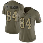Wholesale Cheap Nike Bears #84 Cordarrelle Patterson Olive/Camo Women's Stitched NFL Limited 2017 Salute To Service Jersey