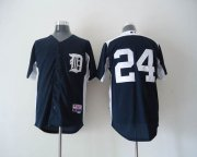 Wholesale Tigers #24 Miguel Cabrera Navy Blue 2011 Home Cool Base BP Stitched Baseball Jersey