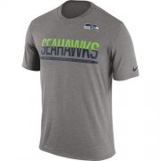 Wholesale Cheap Men's Seattle Seahawks Nike Practice Legend Performance T-Shirt Grey