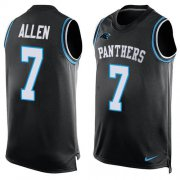 Wholesale Cheap Nike Panthers #7 Kyle Allen Black Team Color Men's Stitched NFL Limited Tank Top Jersey