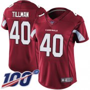 Wholesale Cheap Nike Cardinals #40 Pat Tillman Red Team Color Women's Stitched NFL 100th Season Vapor Limited Jersey