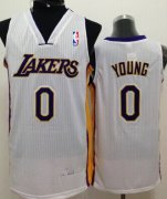 Wholesale Cheap Los Angeles Lakers #0 Nick Young White Swingman Jersey