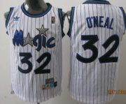 Wholesale Cheap Orlando Magic #32 Shaquille O'neal White Swingman Throwback Jersey
