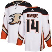 Wholesale Cheap Adidas Ducks #14 Adam Henrique White Road Authentic Youth Stitched NHL Jersey