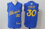 Wholesale Cheap Men's Golden State Warriors #30 Stephen Curry adidas Royal Blue 2016 Christmas Day Stitched NBA Swingman Jersey