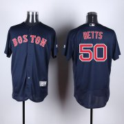 Wholesale Cheap Red Sox #50 Mookie Betts Navy Blue Flexbase Authentic Collection Stitched MLB Jersey