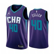 Wholesale Cheap Nike Hornets #40 Cody Zeller Purple 2019-20 Statement Edition NBA Jersey
