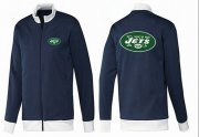 Wholesale Cheap NFL New York Jets Team Logo Jacket Dark Blue_1