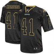 Wholesale Cheap Nike Saints #41 Alvin Kamara Lights Out Black Men's Stitched NFL Elite Jersey