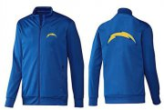 Wholesale NFL Los Angeles Chargers Team Logo Jacket Blue_1