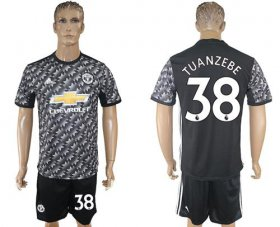 Wholesale Cheap Manchester United #38 Tuanzebe Black Soccer Club Jersey
