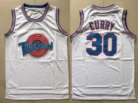 Wholesale Cheap Tune Squad 30 Stephen Curry White Stitched Movie Jersey