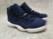 Wholesale Cheap Air Jordan 11 Jeter Re2pect Navy Suede/Deep Blue-White