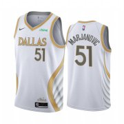 Wholesale Cheap Nike Mavericks #51 Boban Marjanovic White NBA Swingman 2020-21 City Edition Jersey