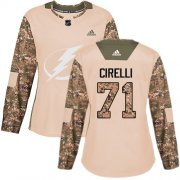 Cheap Adidas Lightning #71 Anthony Cirelli Camo Authentic 2017 Veterans Day Women's Stitched NHL Jersey