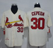 Wholesale Cheap Mitchell And Ness 1967 Cardinals #30 Orlando Cepeda Cream Throwback Stitched MLB Jersey
