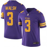 Wholesale Cheap Nike Vikings #3 Blair Walsh Purple Men's Stitched NFL Limited Rush Jersey