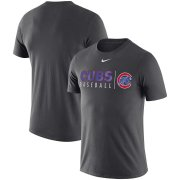 Wholesale Cheap Chicago Cubs Nike MLB Practice T-Shirt Anthracite