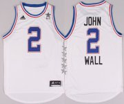 Wholesale Cheap 2015 NBA Eastern All-Stars #2 John Wall Revolution 30 Swingman White Jersey