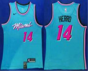 Wholesale Cheap Men's Miami Heat #14 Tyler Herro Light Blue 2019 Nike Swingman Stitched NBA Jersey