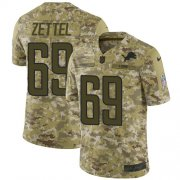 Wholesale Cheap Nike Lions #69 Anthony Zettel Camo Youth Stitched NFL Limited 2018 Salute to Service Jersey