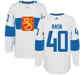 Wholesale Cheap Team Finland #40 Tuukka Rask White 2016 World Cup Stitched NHL Jersey