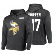 Wholesale Cheap Minnesota Vikings #97 Everson Griffen Nike NFL 100 Primary Logo Circuit Name & Number Pullover Hoodie Anthracite